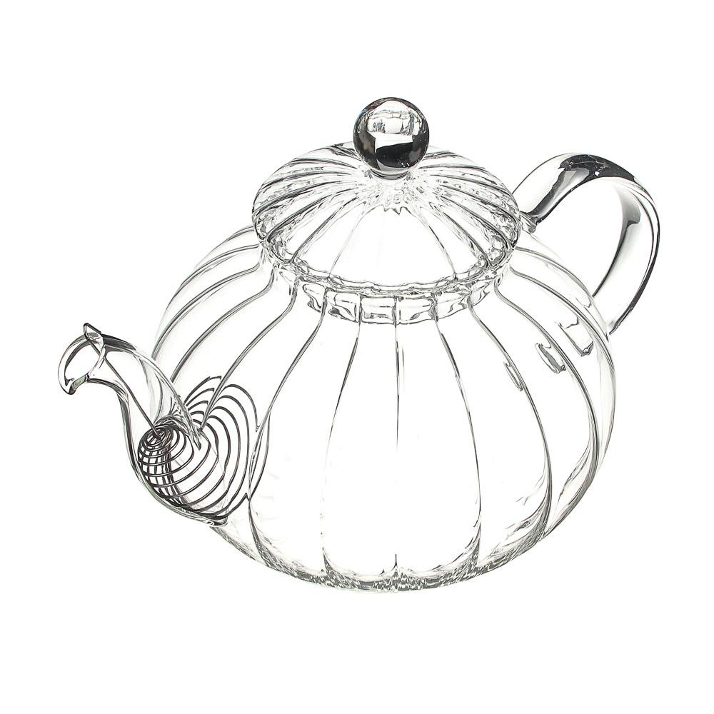 Чайник заварочный 800 мл VETTA, с металлическим фильтром, стекло - 2