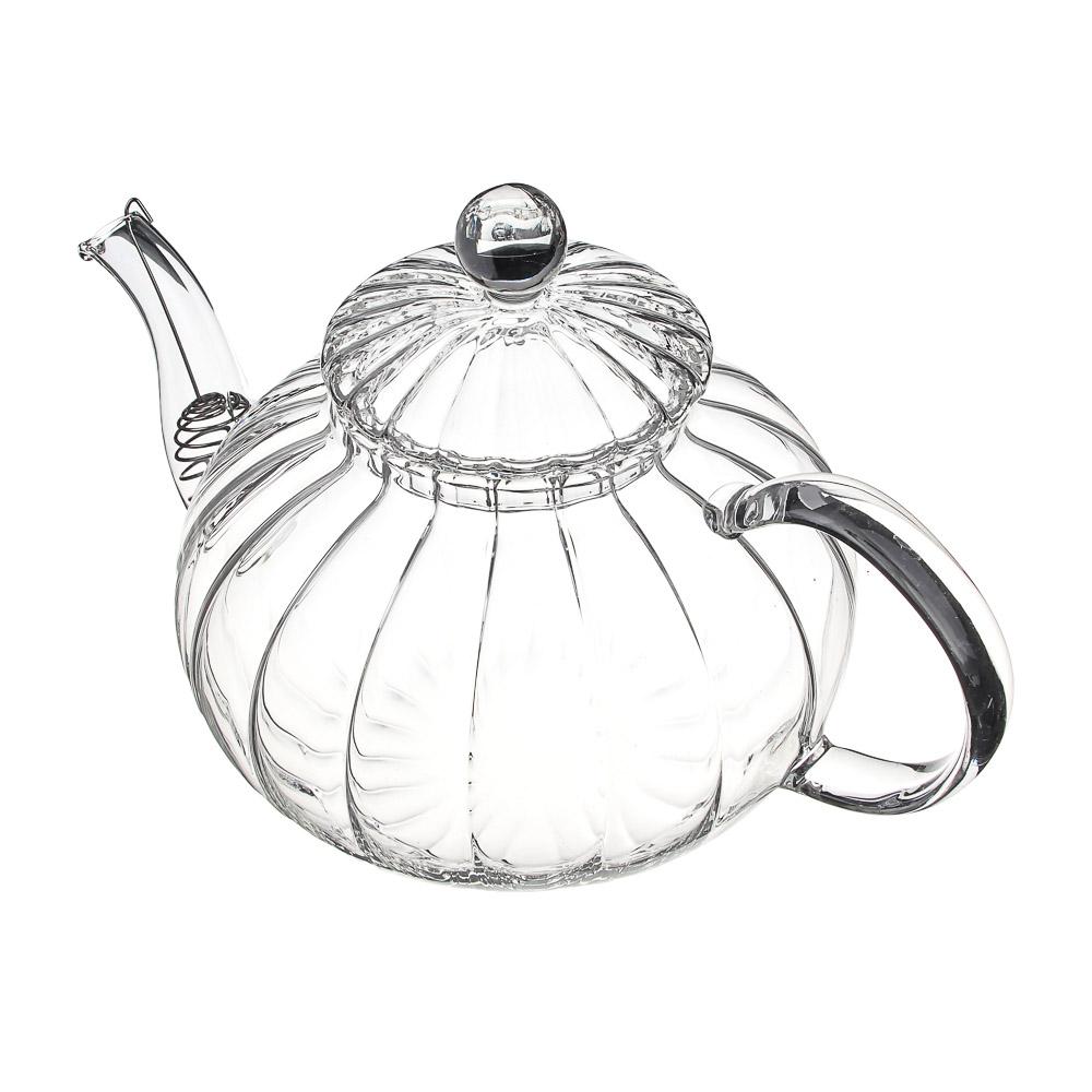 Чайник заварочный 800 мл VETTA, с металлическим фильтром, стекло - 3