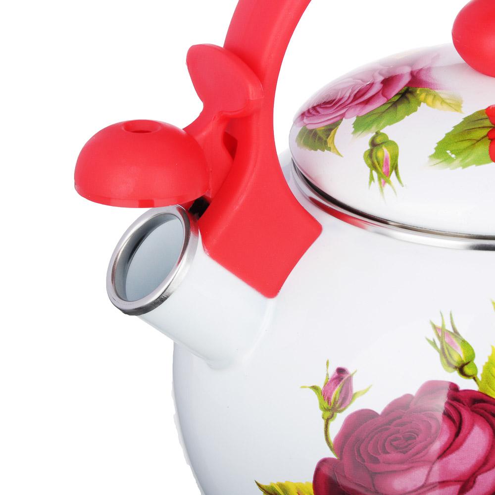 Чайник 2,2 л VETTA Цветы, эмалированный со свистком, индукция - 3