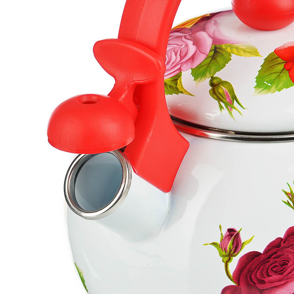 Чайник 2,2 л VETTA Цветы, эмалированный со свистком, индукция - 5