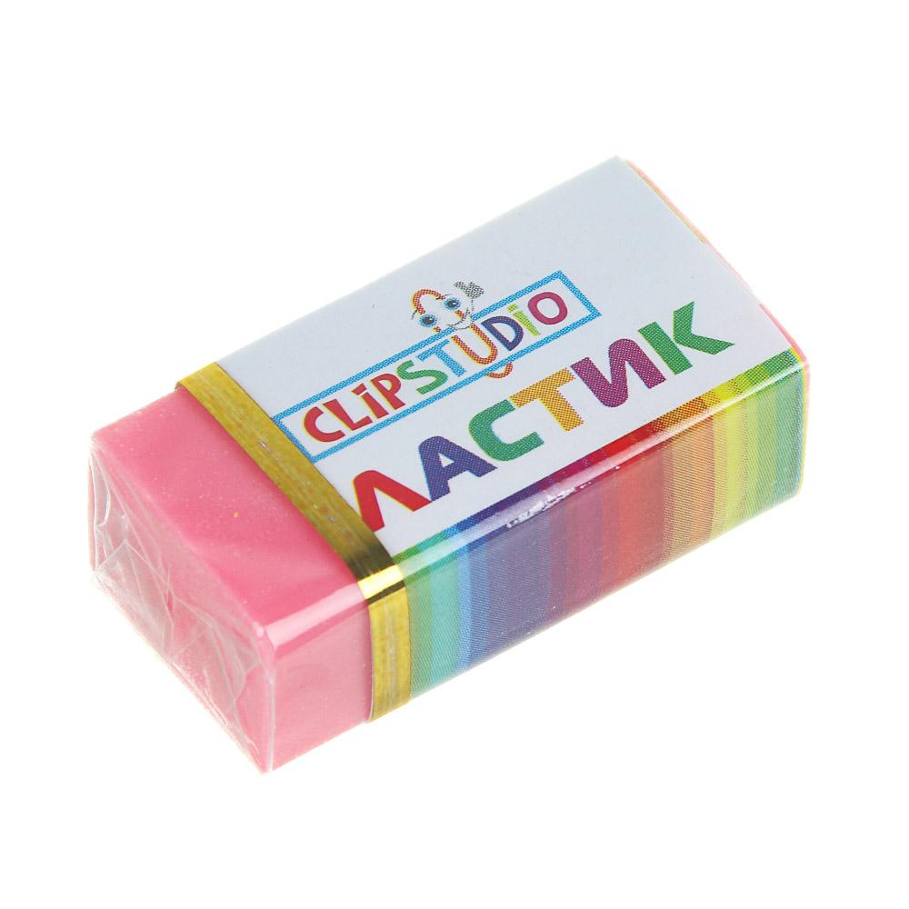 Ластик ClipStudio в картонном держателе, 4 цвета - 3