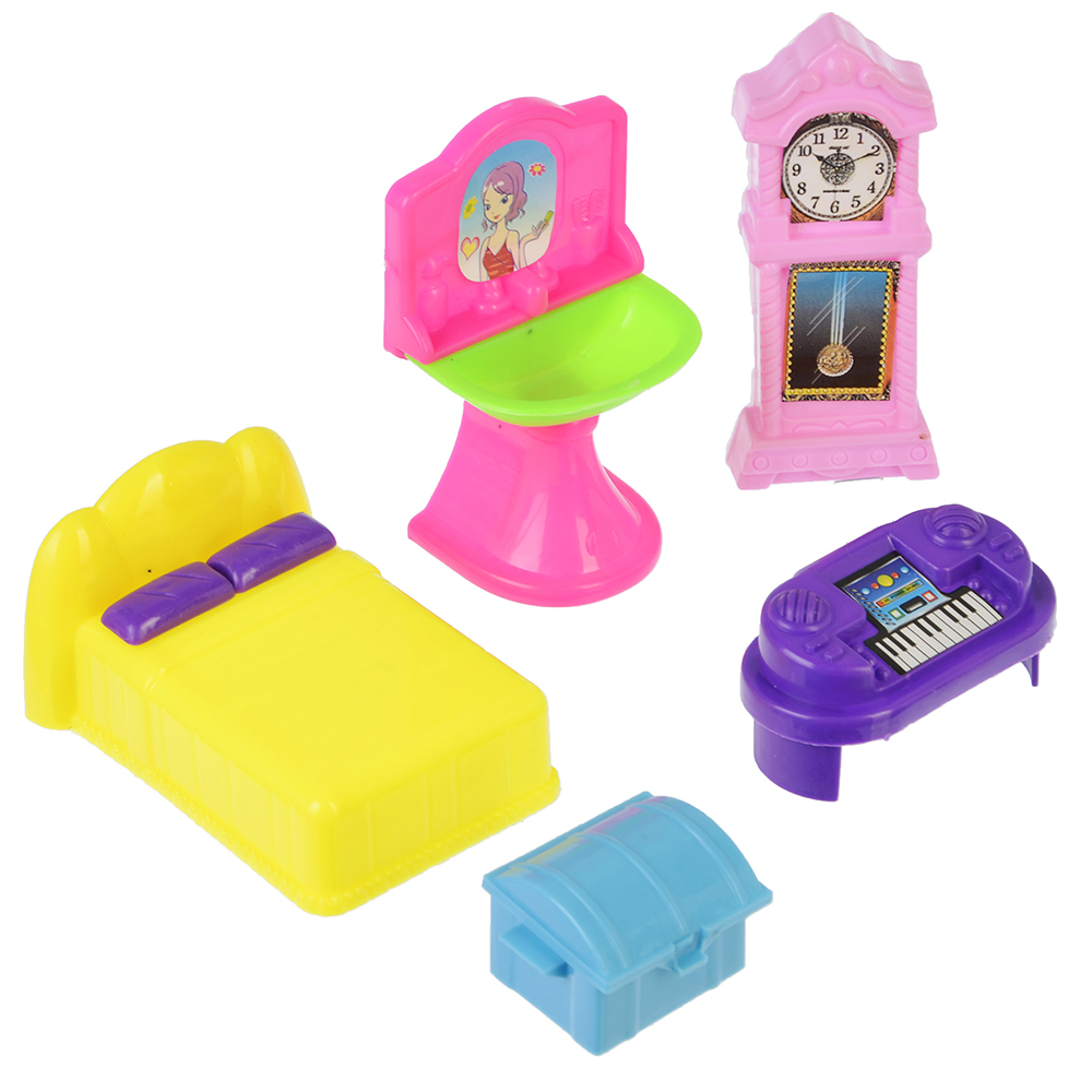 МЕШОК ПОДАРКОВ Набор мебели для кукол, пластик, 19х17х4см, 6 дизайнов - 4