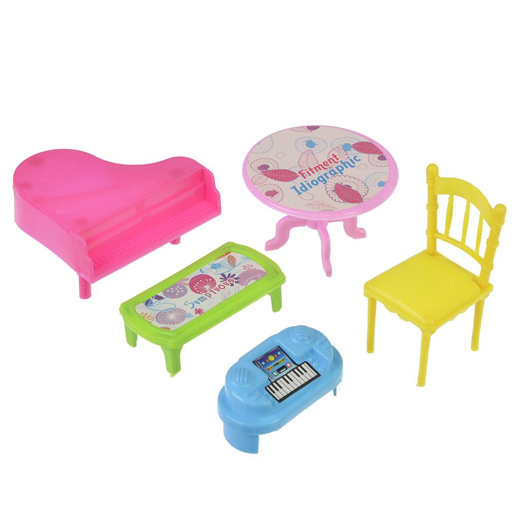 МЕШОК ПОДАРКОВ Набор мебели для кукол, пластик, 19х17х4см, 6 дизайнов - 6