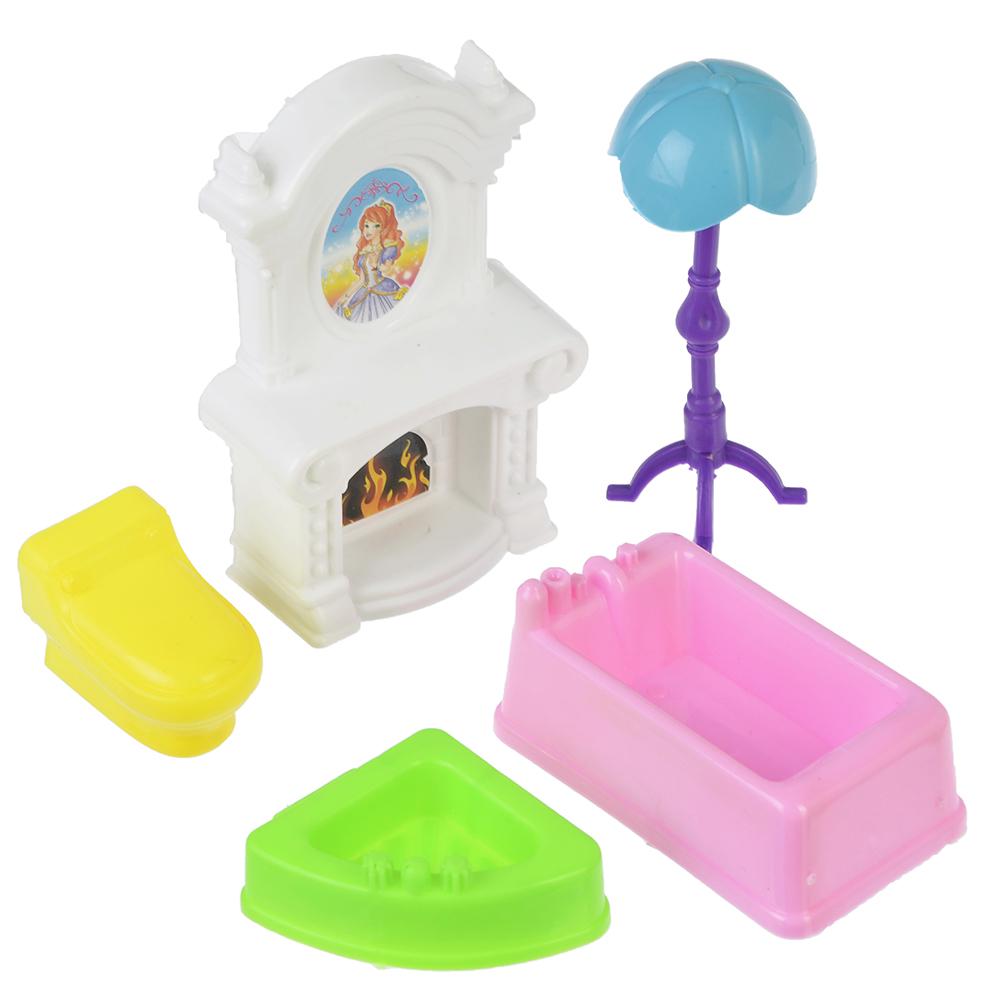 МЕШОК ПОДАРКОВ Набор мебели для кукол, пластик, 19х17х4см, 6 дизайнов - 7