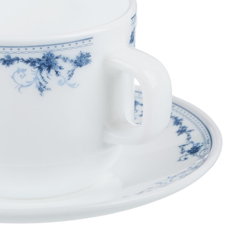 """Чайная пара: чашка 250 мл, блюдце 15 см, опаловое стекло, MILLIMI """"Бьянко"""" - 3"""