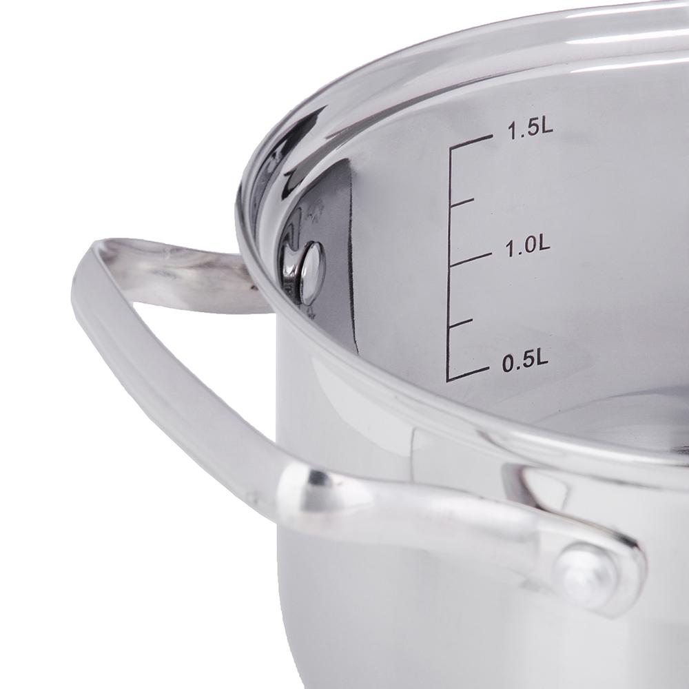 Кастрюля 1,9 л VETTA Берн, со стеклянной крышкой, индукция - 3