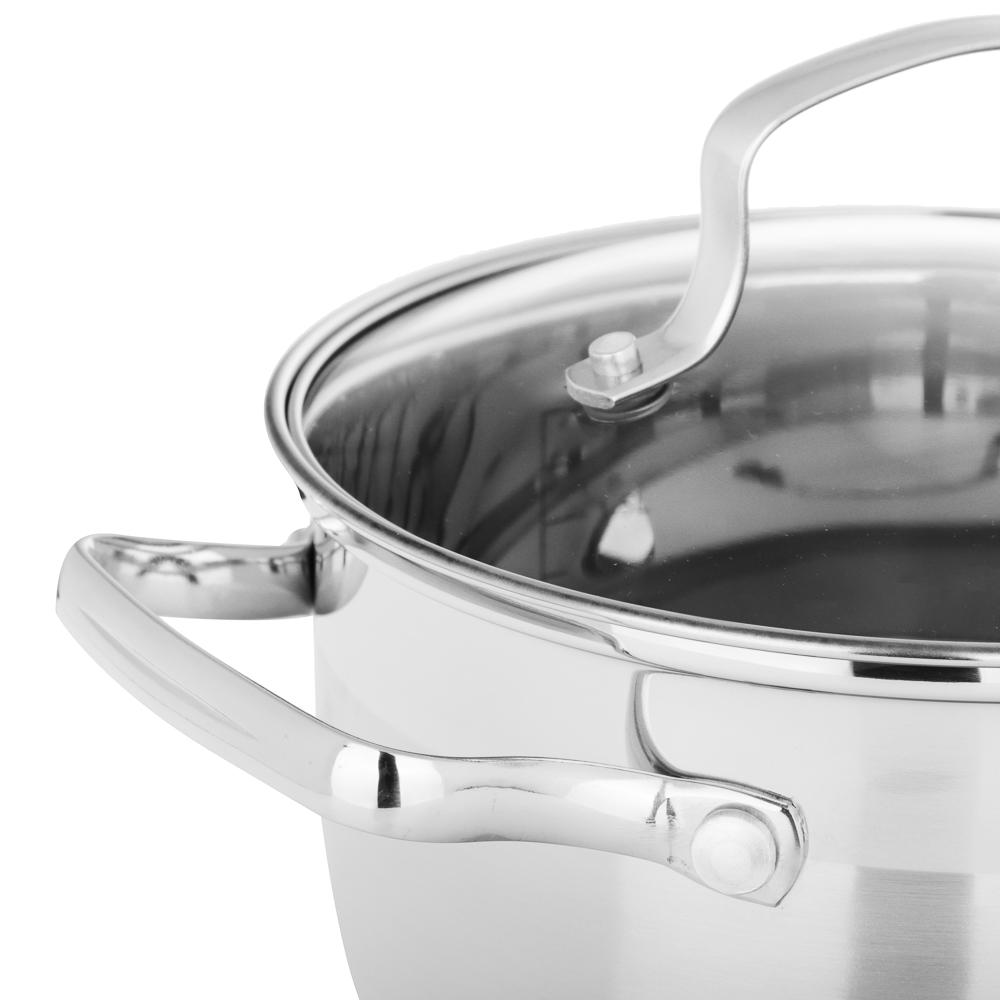 Кастрюля 2,6 л VETTA Берн, со стеклянной крышкой, индукция - 3