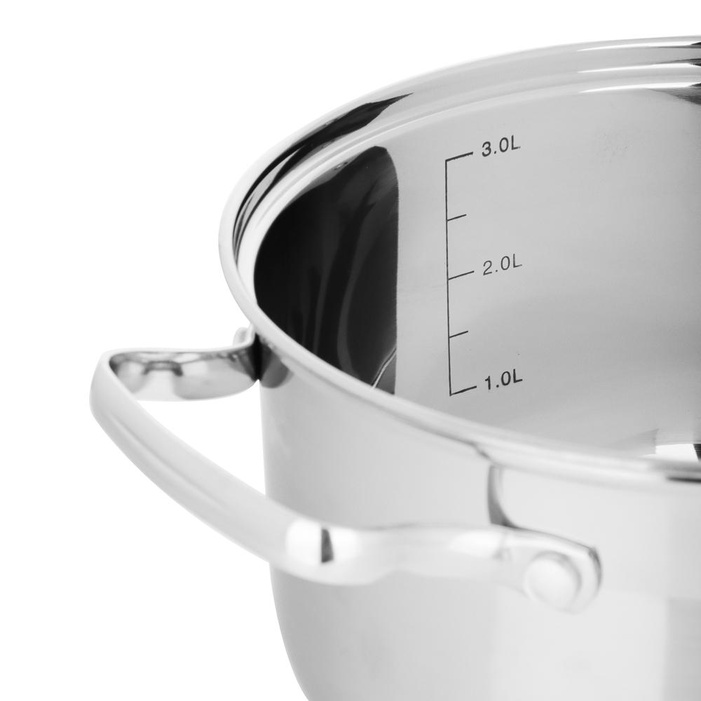 Кастрюля 3,5 л VETTA Берн, со стеклянной крышкой, индукция - 4