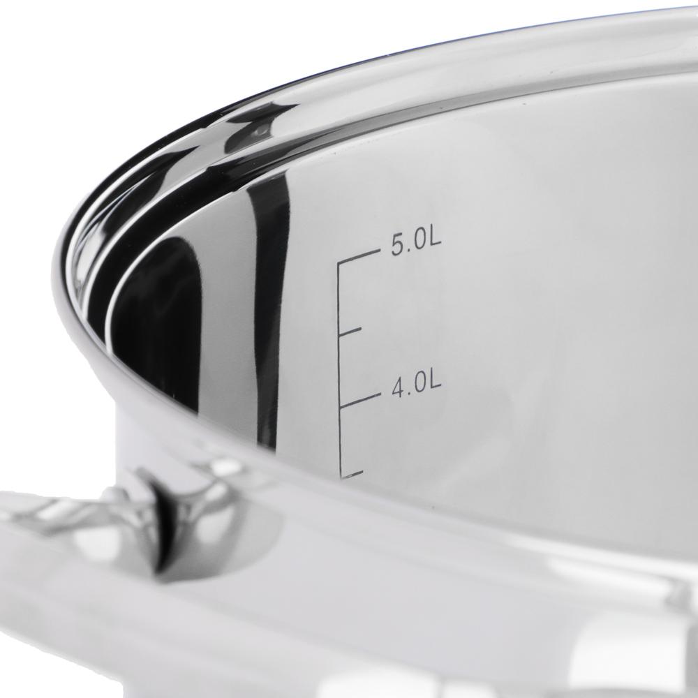 Кастрюля 6,1 л VETTA Берн, со стеклянной крышкой, индукция - 3