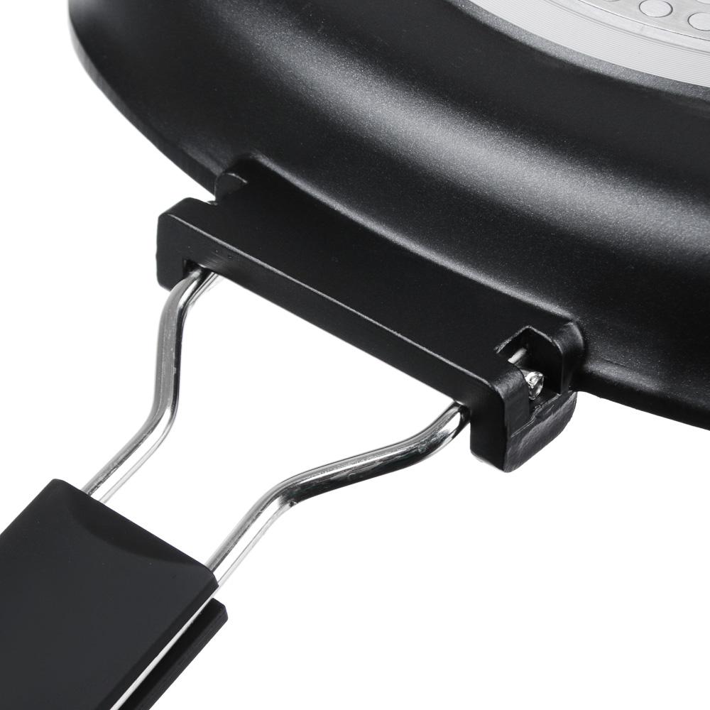 Сковорода-гриль 24х24 см СЛАВЯНА Кобальт, литая с антипригарным покрытием, индукция - 6