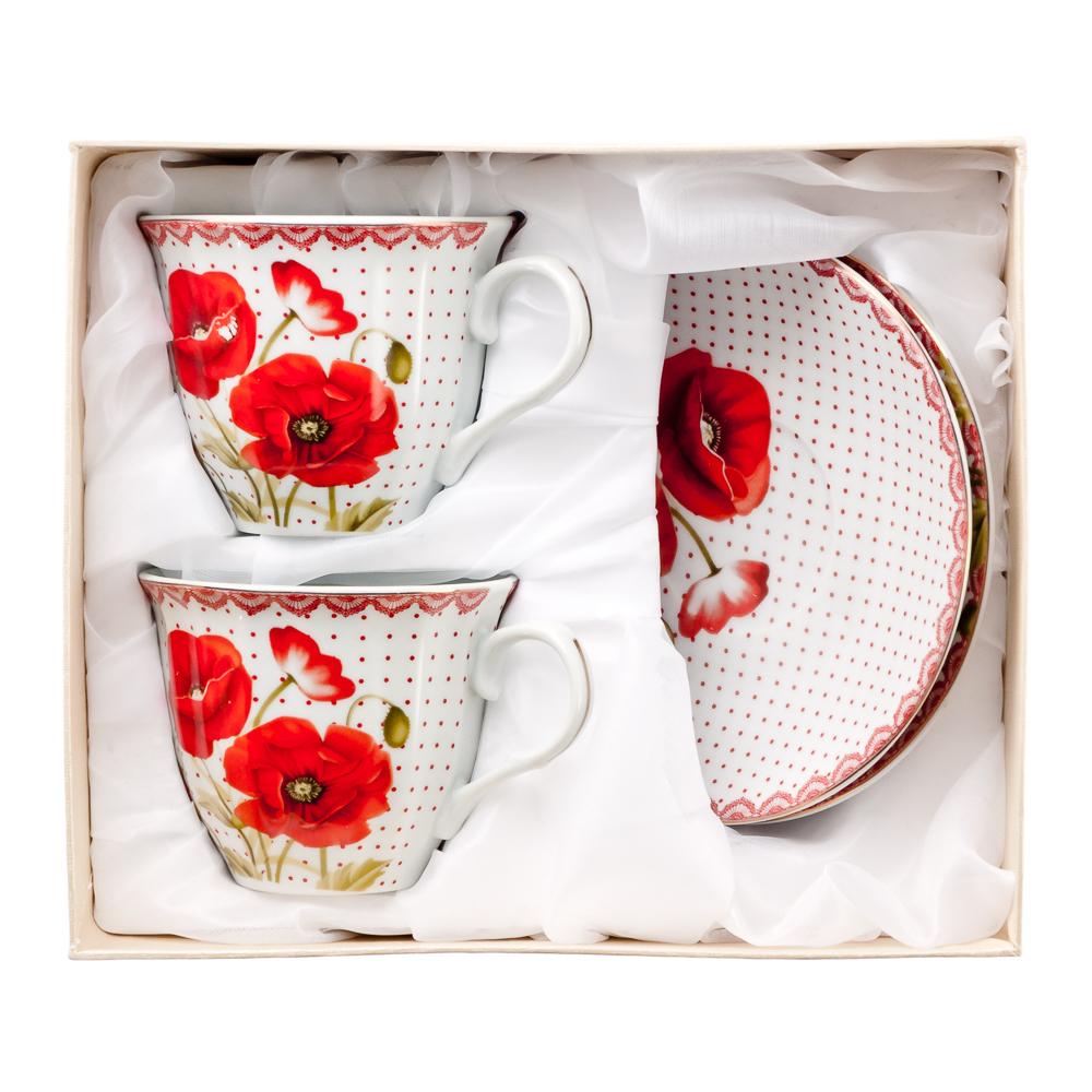 Маков цвет Набор чайный 4 пр., 220мл, фарфор - 3