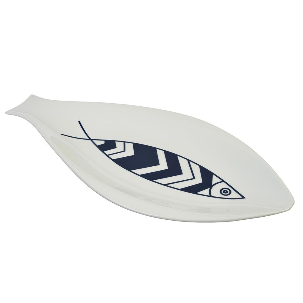 MILLIMI Форма для запекания/сервировки рыбы, 35х18см, фарфор, 2 дизайна - 2