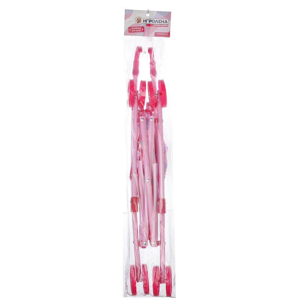 ИГРОЛЕНД Коляска для кукол прогулочная, PP, текстиль, 47,5х20х37см, 3 дизайна - 3