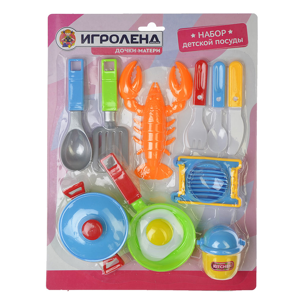 ИГРОЛЕНД Набор детской посуды, пластик, 2 дизайна, 200077733 - 2