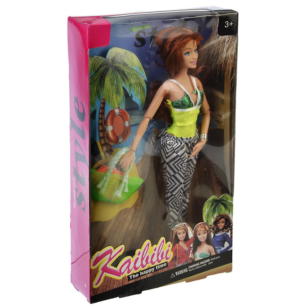 Кукла в летней одежде, пластик, полиэстер, 29см, 3 дизайна, BLD058 - 3