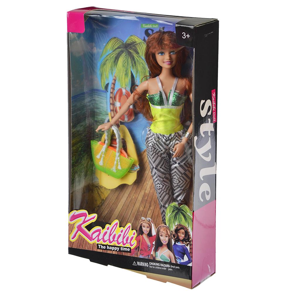 Кукла в летней одежде, пластик, полиэстер, 29см, 3 дизайна, BLD058 - 4