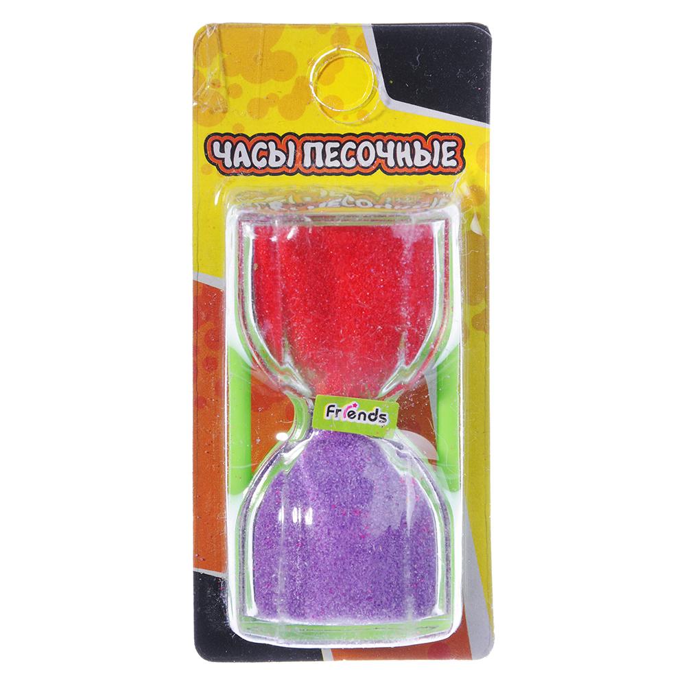 Часы песочные, пластик, 6х3,4см, 4 цвета - 3
