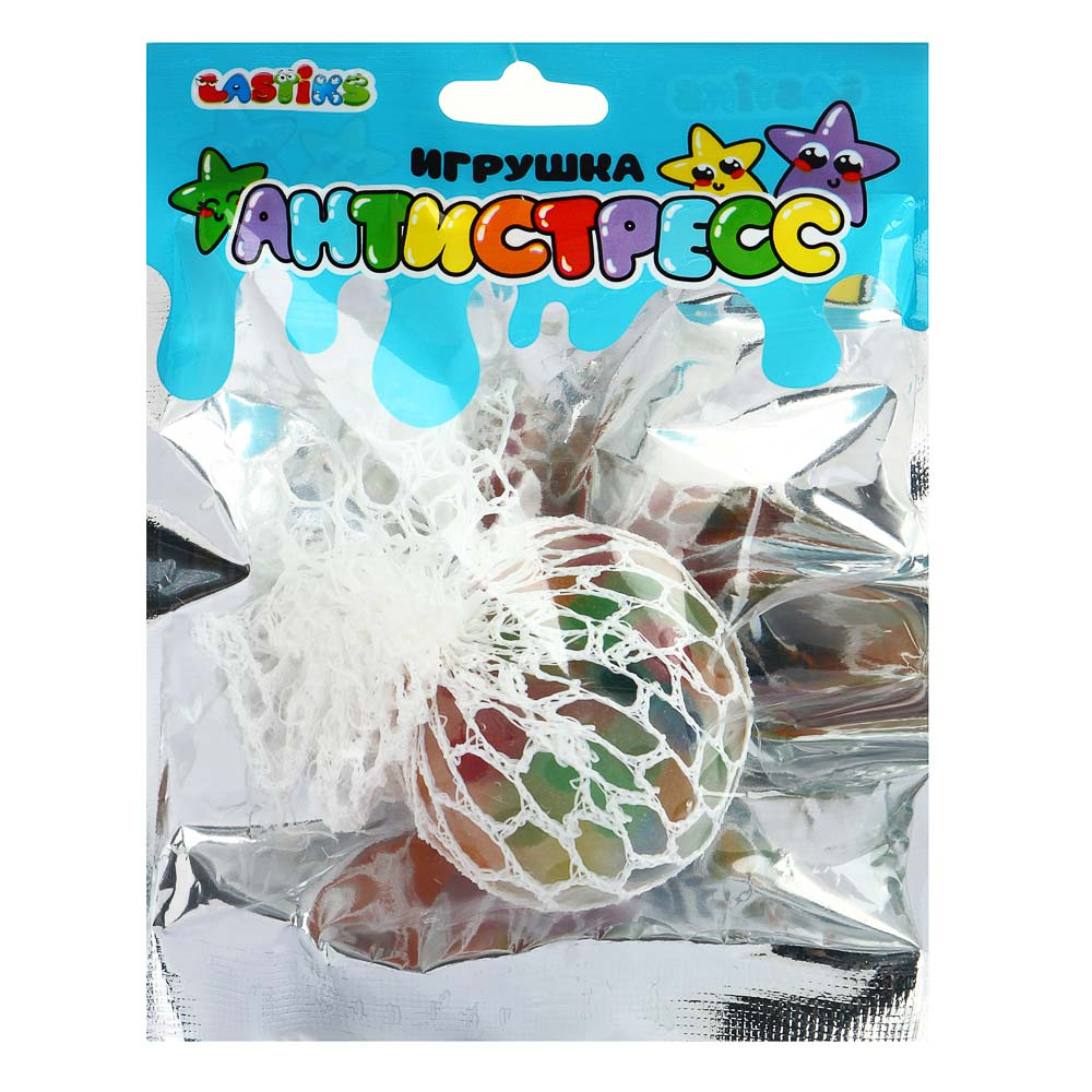 LASTIKS Игрушка-антистресс, полимер, полиэстер, 5см, 4 цвета - 4
