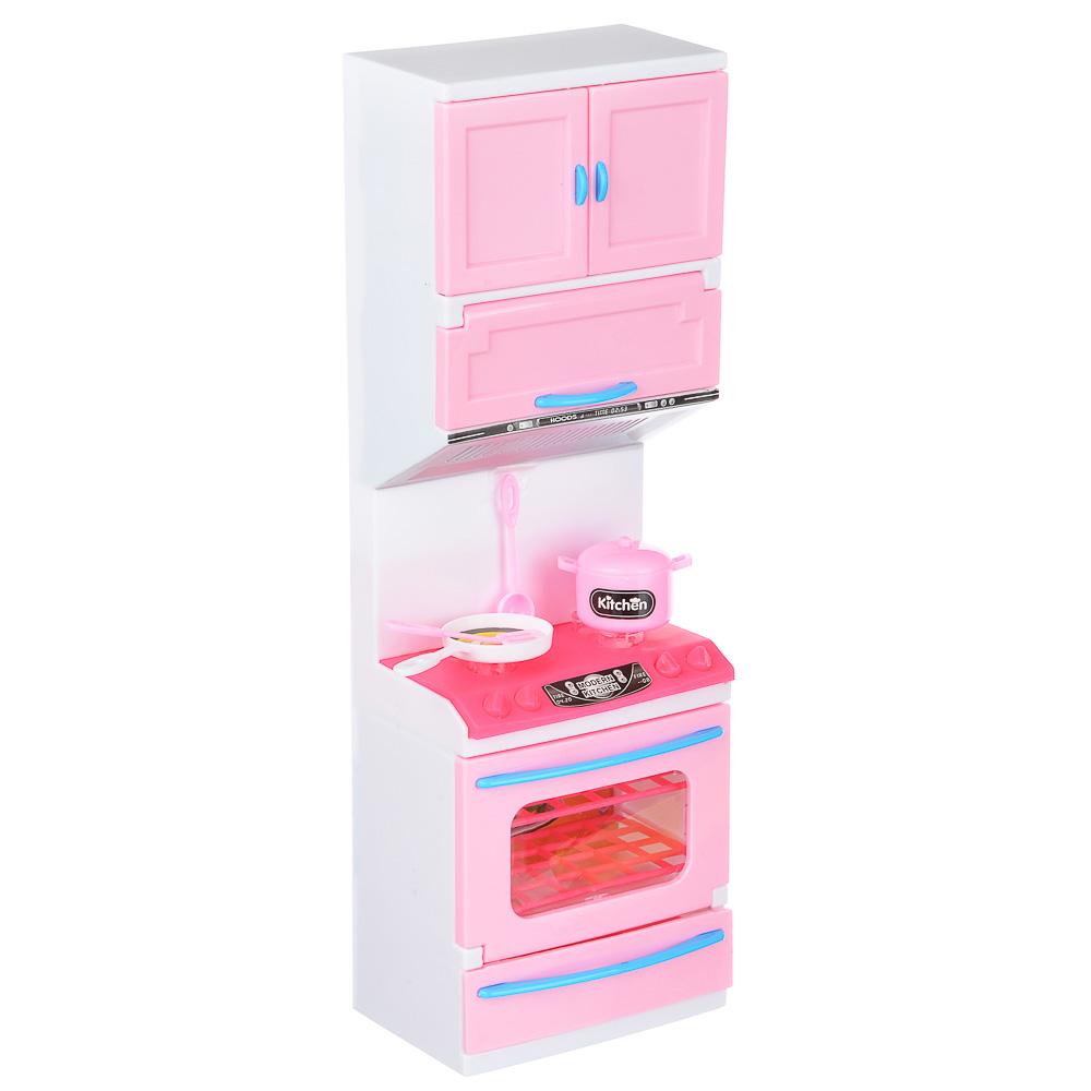 ИГРОЛЕНД Мебель для кукол Кухня, пластик, 15-17,5х8-9х36см, 3-6 дизайнов - 3