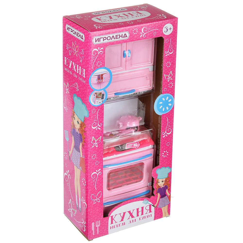 ИГРОЛЕНД Мебель для кукол Кухня, пластик, 15-17,5х8-9х36см, 3-6 дизайнов - 4