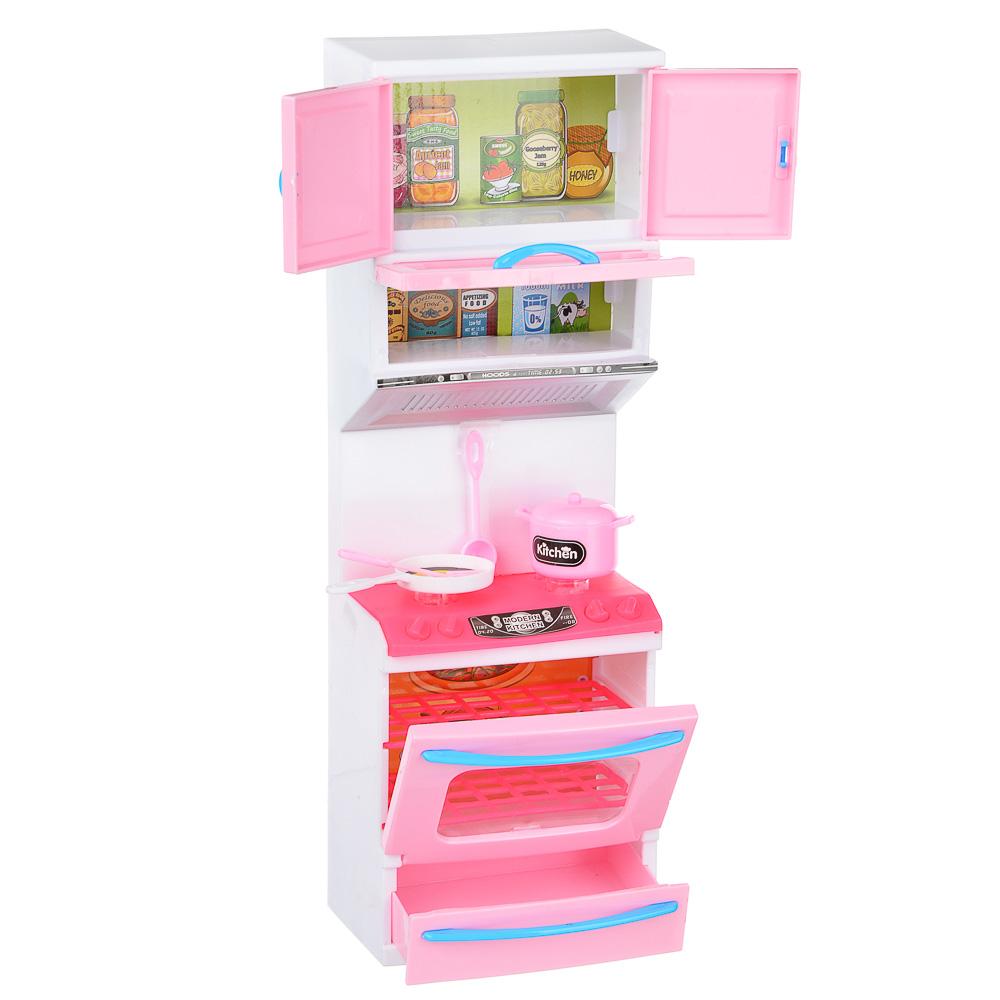 ИГРОЛЕНД Мебель для кукол Кухня, пластик, 15-17,5х8-9х36см, 3-6 дизайнов - 5
