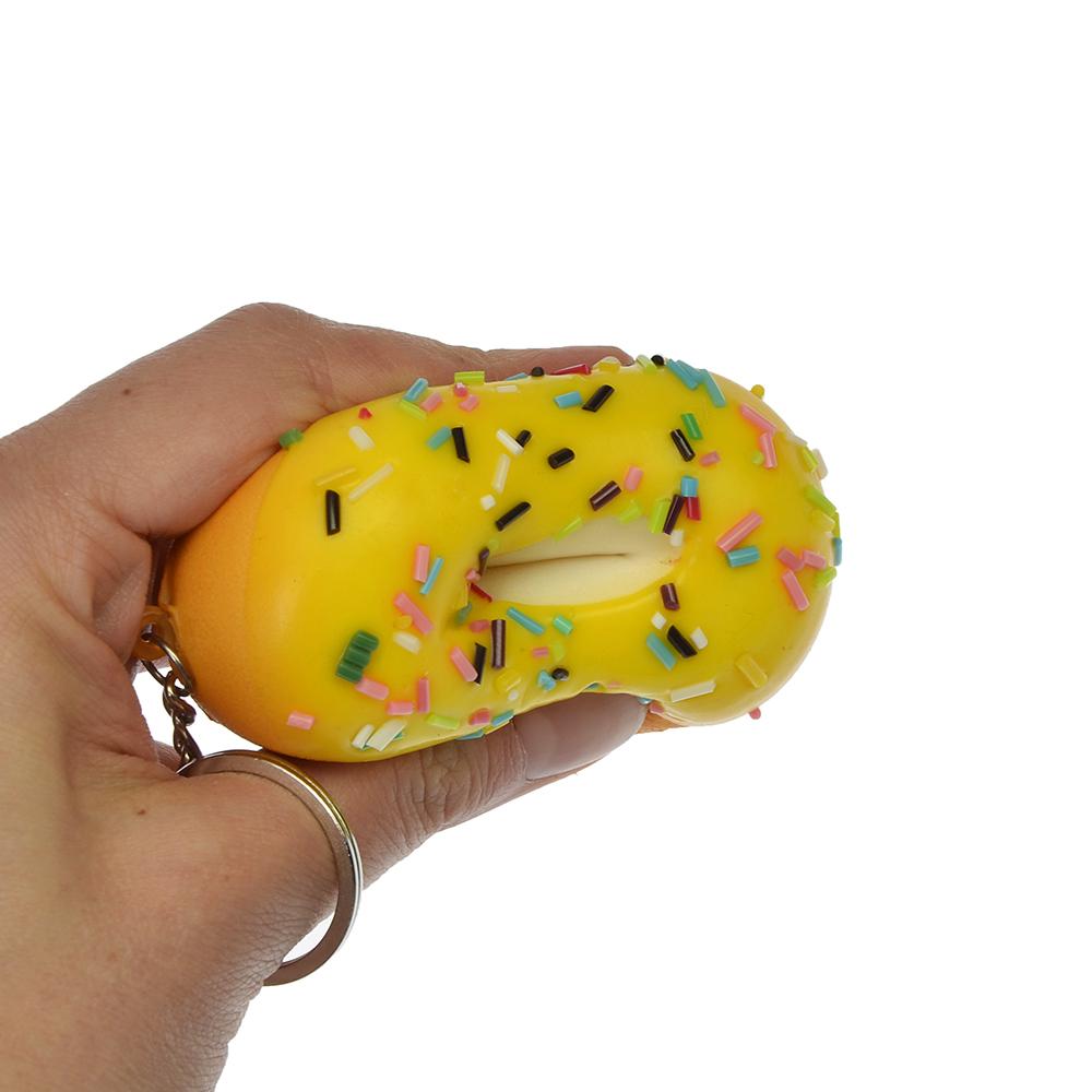 "Игрушка-мялка ""Пончик"", с ароматом, ПУ, металл, d7см, 4-6 цветов - 3"
