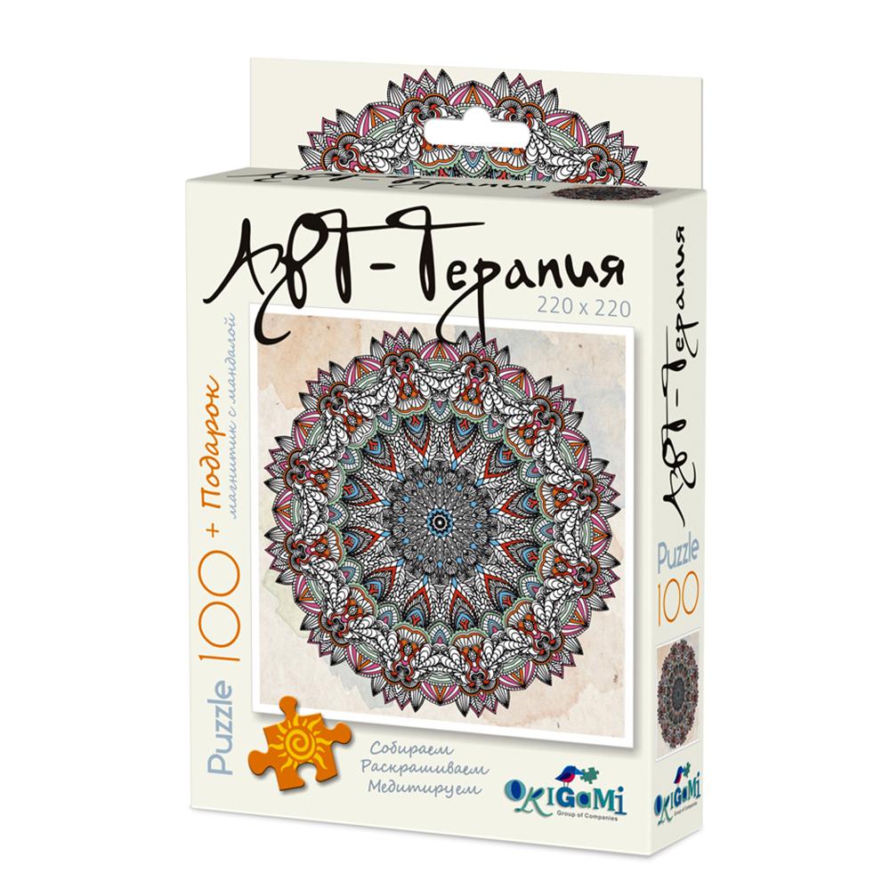 ОРИГАМИ Арт-терапия. Пазл-раскраска 100 деталей + магнит-талисман. 6 дизайнов, 02431 - 4