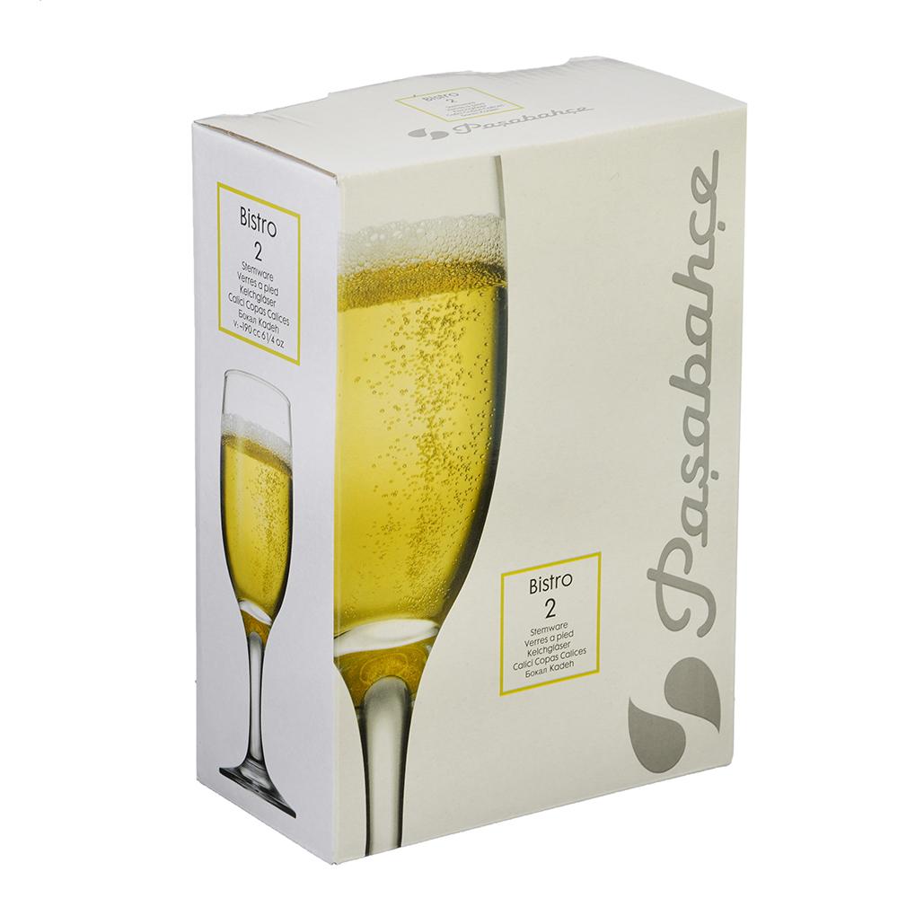 """Pasabahce набор бокалов для шампанского 2 шт, 190мл,""""bistro"""" - 2"""