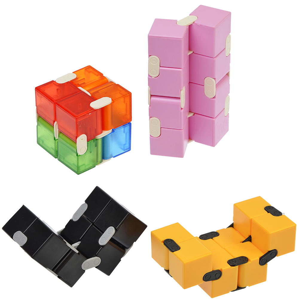 "Игрушка-антистресс ""Кубик-бесконечность"", пластик, металл, 4х2х8см, 5 дизайнов, SM1226-1/5/8/9 - 2"