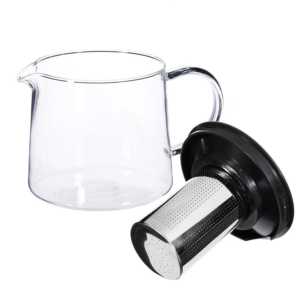 Чайник заварочный 1,5 л SATOSHI Цейлон, жаропрочное стекло - 2