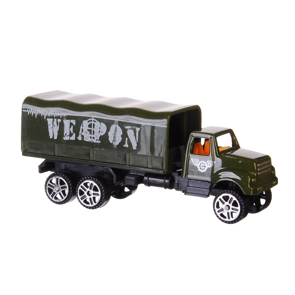 ИГРОЛЕНД Машинка Военный грузовик, металл, пластик, 1:64, 4 дизайна - 2