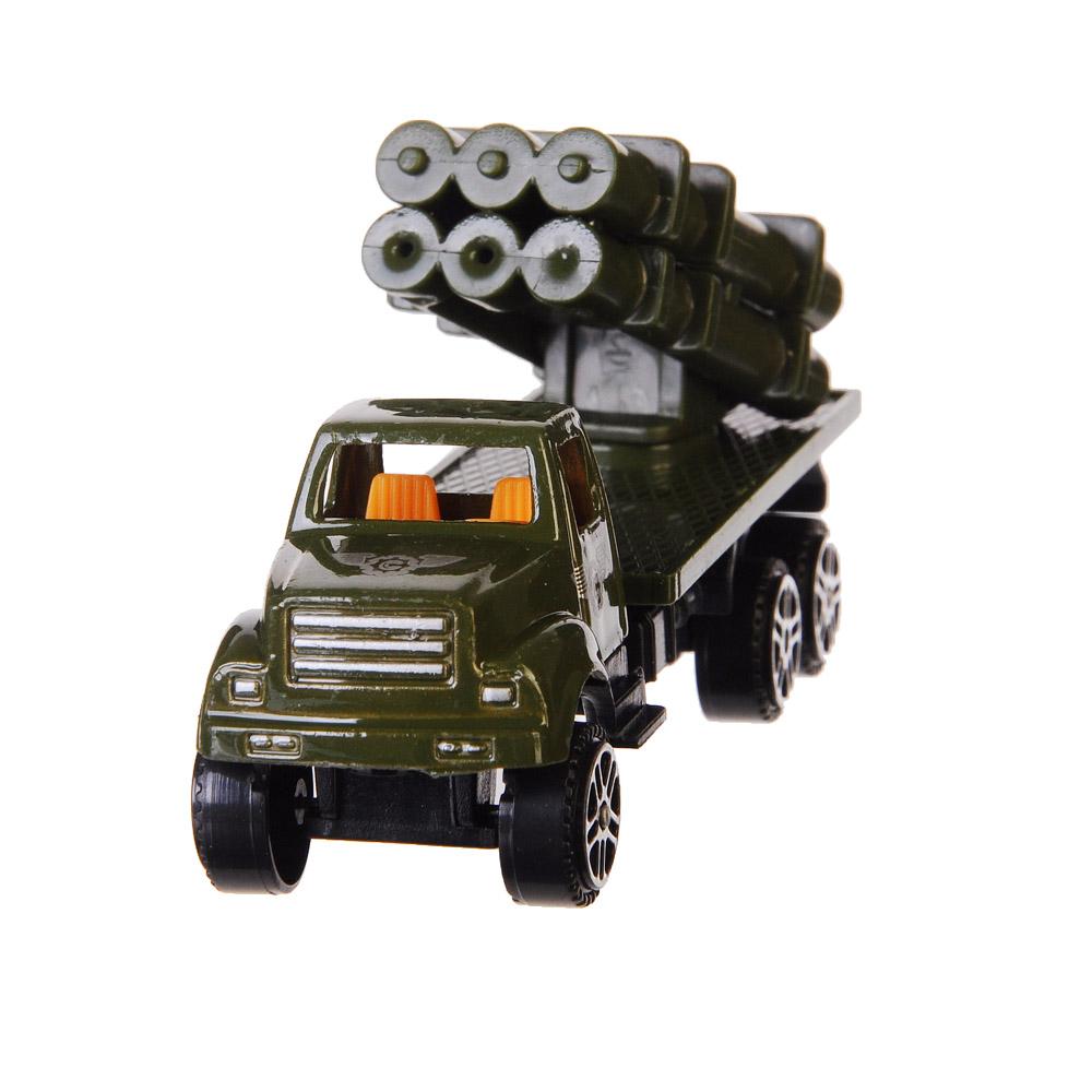 ИГРОЛЕНД Машинка Военный грузовик, металл, пластик, 1:64, 4 дизайна - 3