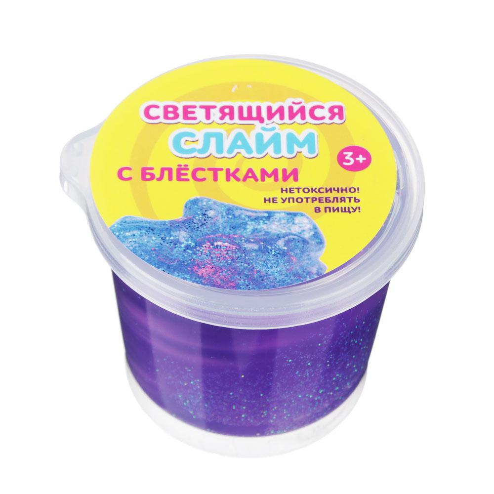 Слайм блестящий со светящимся шаром, полимер, 80 гр. - 5