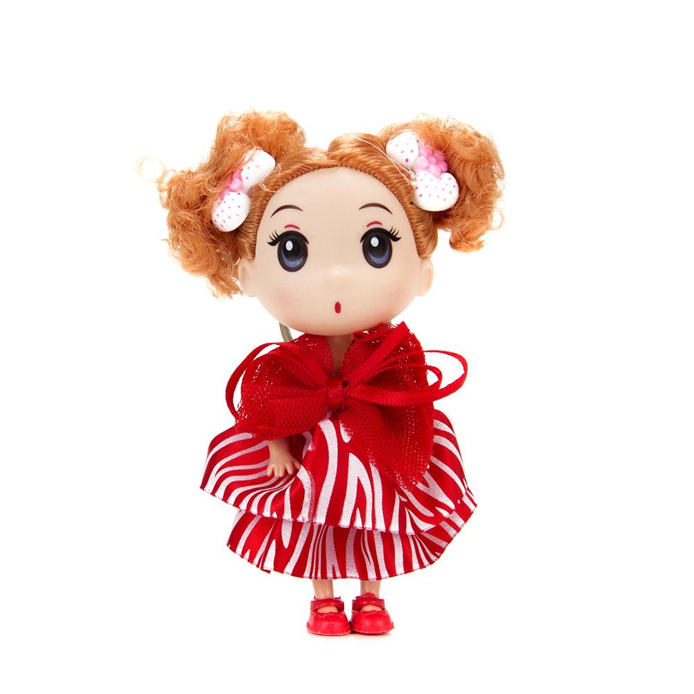 Брелок-куколка, пластик, полиэстер, 12см, 4 цвета - 2