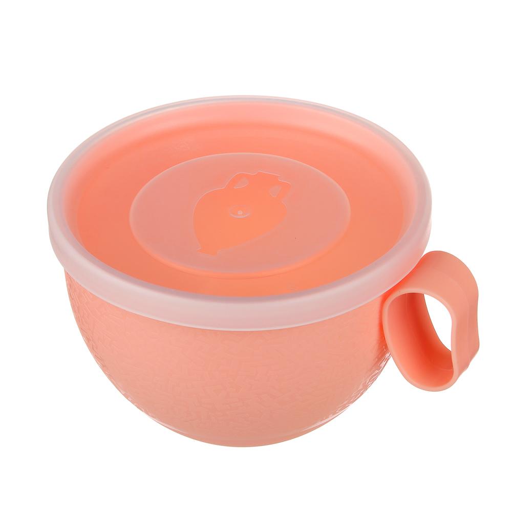 Чашка с крышкой VETTA 0,5л, пластик - 3