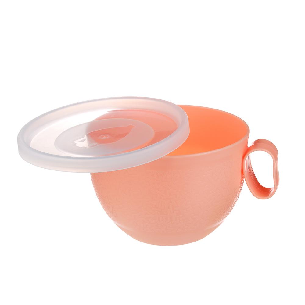 Чашка с крышкой VETTA 0,5л, пластик - 4