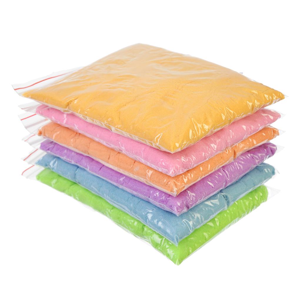 Кинетический песок 200, комплект: 3 формочки, пластик, песок 200гр, 6 цветов - 2