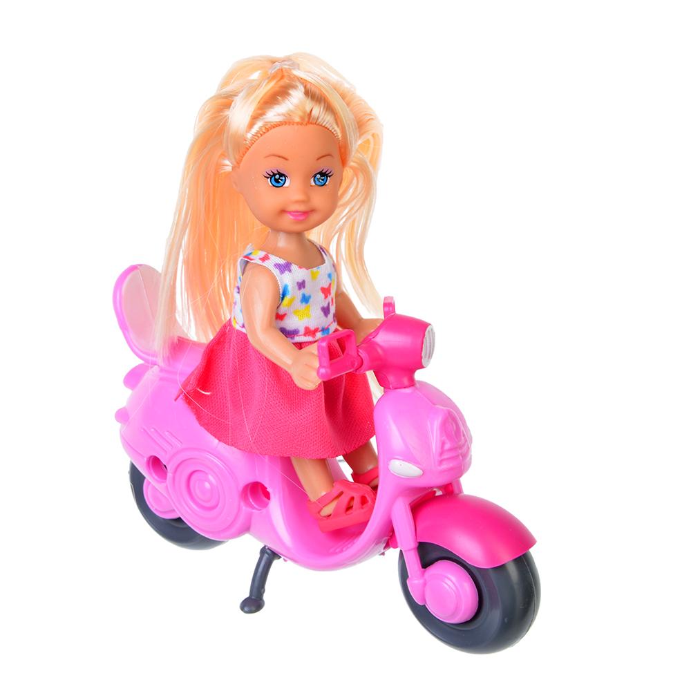 ИГРОЛЕНД Кукла маленькая на мопеде, пластик, полиэстер - 3