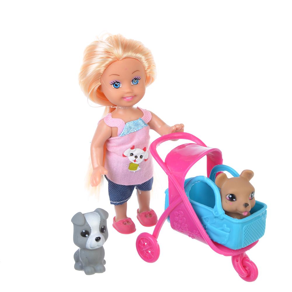 ИГРОЛЕНД Кукла маленькая с аксессуарами, пластик, полиэстер - 3