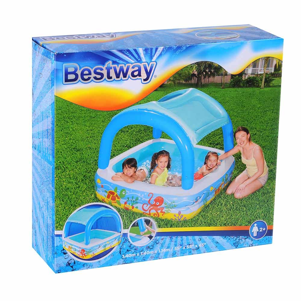 BESTWAY Бассейн надувной с навесом от солнца, 147х147х122см, 265 л, 52192 - 2
