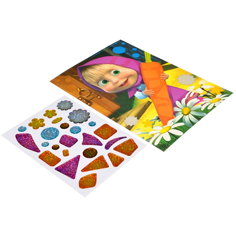 Мозаика гелевыми стразами Маша и Медведь, картон, пластик, 23,2x15,2см, 4 дизайна - 3