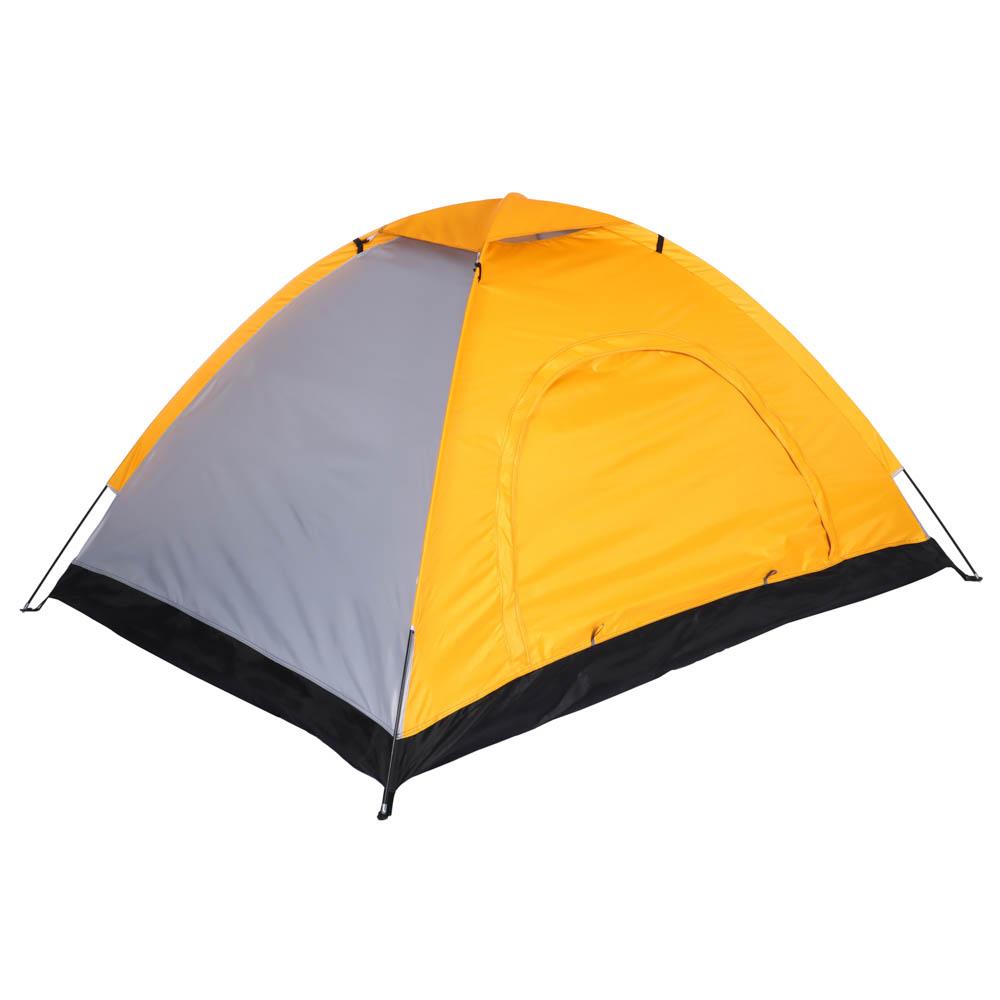 Палатка 2-местная ЧИНГИСХАН Стандарт, 195х145х110см, нейлон 170T, дно оксфорд 150D - 2