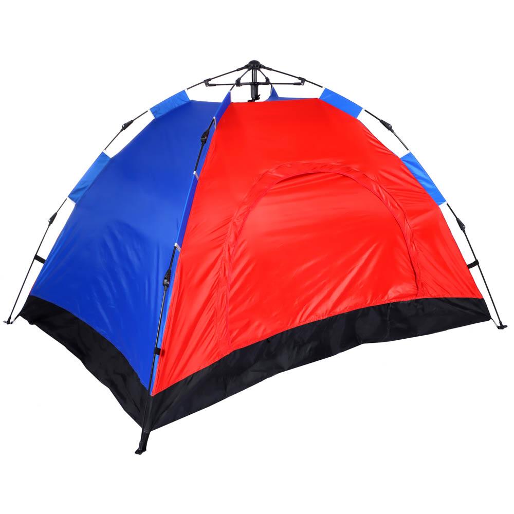 Палатка 4-местная ЧИНГИСХАН Автомат, 200х195х140см, нейлон 170T, дно оксфорд 150D - 2