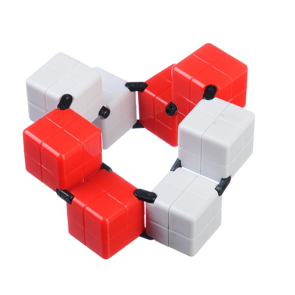 """Игрушка-антистресс """"Кубик-Бесконечность 360 градусов"""", пластик, 8х4х2см, 3-4 цвета - 3"""