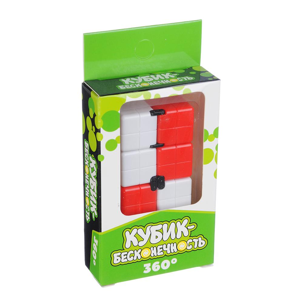 """Игрушка-антистресс """"Кубик-Бесконечность 360 градусов"""", пластик, 8х4х2см, 3-4 цвета - 4"""
