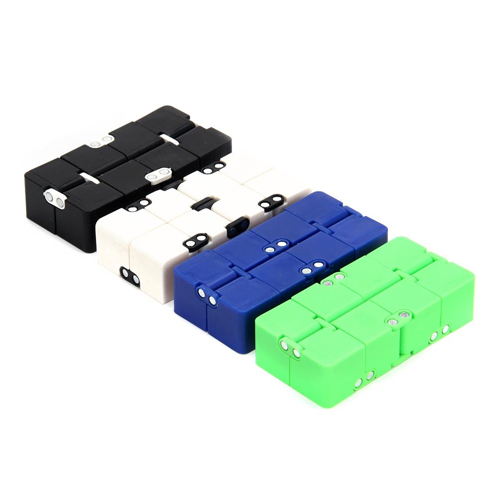 """Игрушка-антистресс """"Кубик-Бесконечность"""", пластик, 8х4см, 4 цвета - 2"""