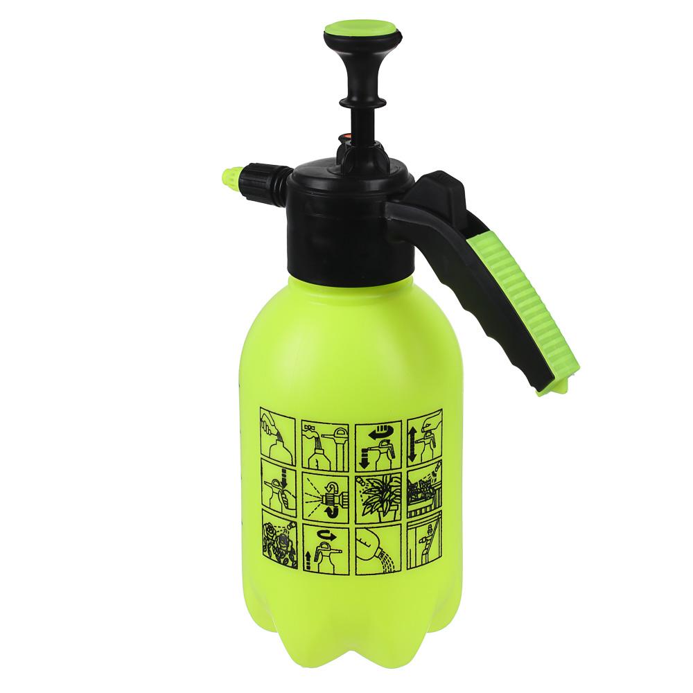 Пульверизатор помповый, пластик, 1,75л., 30 см, желтый, 21х13х24, INBLOOM - 3