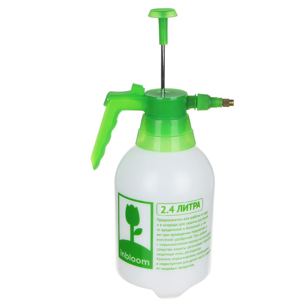Пульверизатор помповый INBLOOM 2,4 л, 30 см, пластик, бело-зеленый - 2