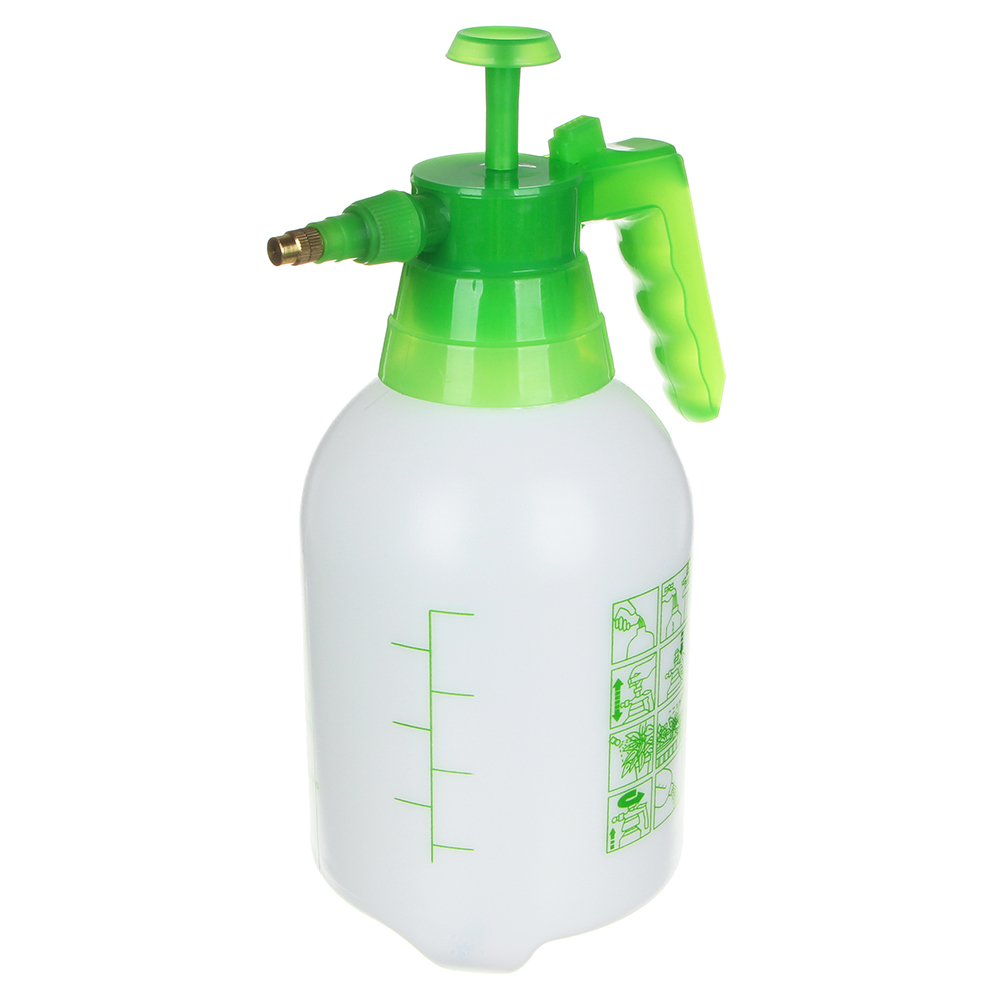 Пульверизатор помповый INBLOOM 2,4 л, 30 см, пластик, бело-зеленый - 3
