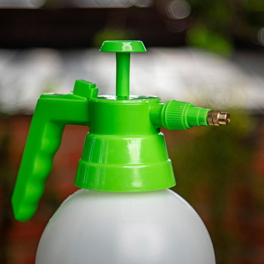 Пульверизатор помповый INBLOOM 2,4 л, 30 см, пластик, бело-зеленый - 5